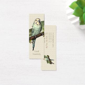 Signet maigre de perruche bleue mini carte de visite