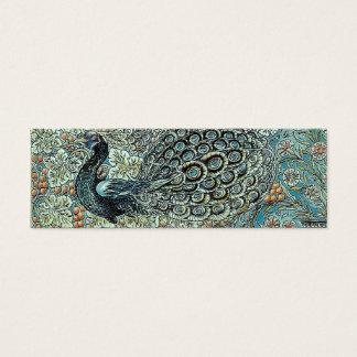 Signet, paon de William Morris Mini Carte De Visite