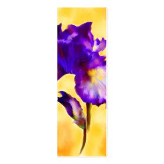 Signets pourpres d'iris (fleur) carte de visite petit format