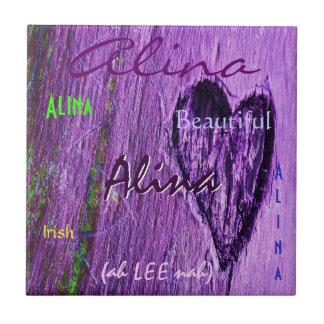 Signification irlandaise nommée d'Alina avec Purpl Carreau