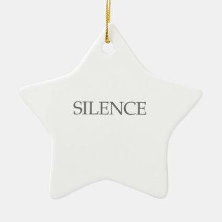 SILENCE ORNEMENT ÉTOILE EN CÉRAMIQUE