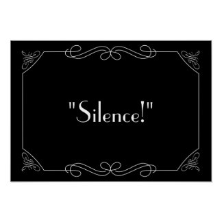 Silence ! posters