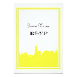 Silhouette #2 do-it-yourself RSVP de jaune Carton D'invitation 8,89 Cm X 12,70 Cm