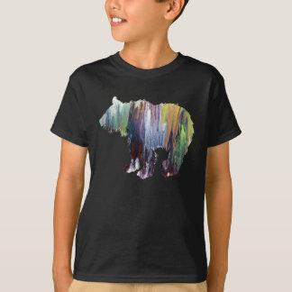 Silhouette abstraite de petit animal d'ours t-shirt