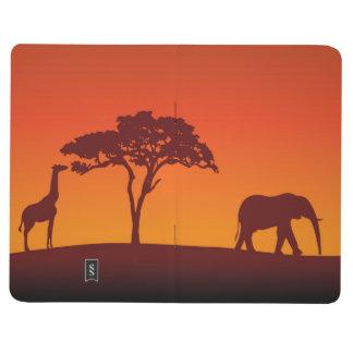Silhouette africaine de safari - journal de poche