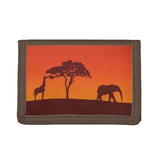 Silhouette africaine de safari - portefeuille