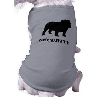 Silhouette anglaise de bouledogue avec le texte pe t-shirt pour chien