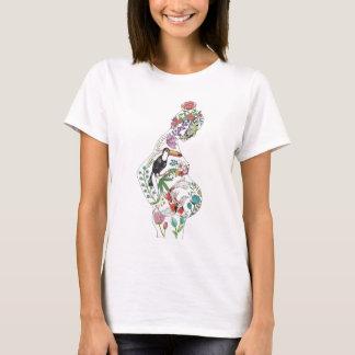 Silhouette blanche (conception avant) t-shirt
