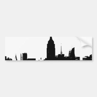 Silhouette blanche noire de New York Autocollant Pour Voiture