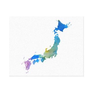 silhouette colorée du Japon Toile