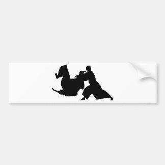 Silhouette d'Aikido Autocollant De Voiture
