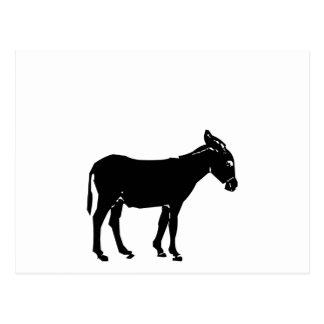 Silhouette d'âne carte postale