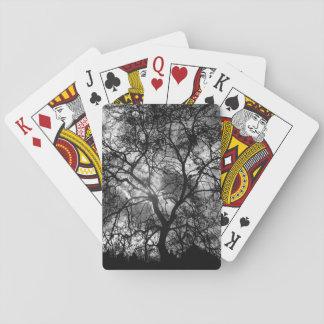 Silhouette d'arbre cartes à jouer