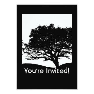 Silhouette d'arbre - la Réunion de famille Invitation
