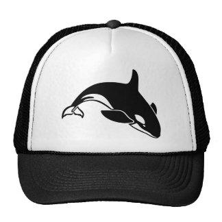 Silhouette de baleine casquettes de camionneur