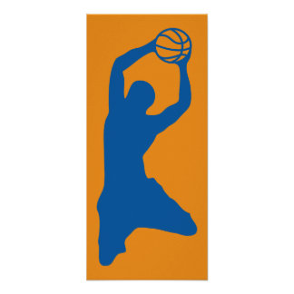 silhouette de basket-ball posters