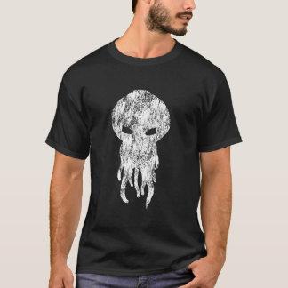 Silhouette de blanc de Cthulhu T-shirt