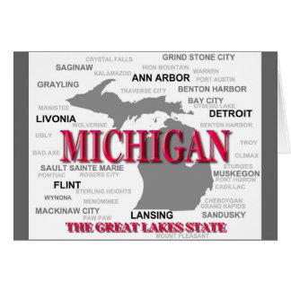 Silhouette de carte de fierté d État du Michigan