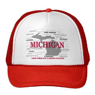 Silhouette de carte de fierté d État du Michigan Casquette De Camionneur