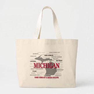 Silhouette de carte de fierté d État du Michigan Sac Fourre-tout