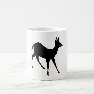 Silhouette de cerfs communs mug