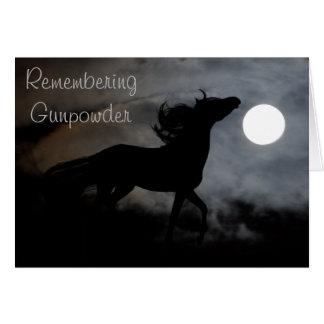 Silhouette de cheval dans la brume cartes