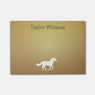 Silhouette de cheval votre arrière - plan d'or