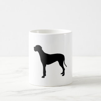Silhouette de chien de great dane mug