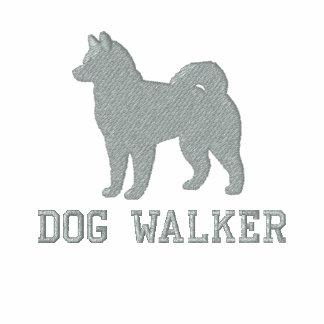 Silhouette de chien de Malamute d'Alaska avec le t Polo Brodé