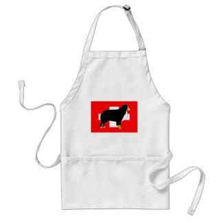 silhouette de chien de montagne bernese sur le tablier