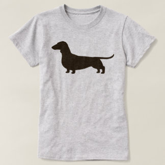 Silhouette de chien de teckel t-shirt