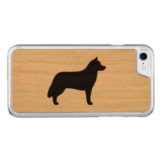 Silhouette de chien de traîneau sibérien coque carved pour iPhone 7