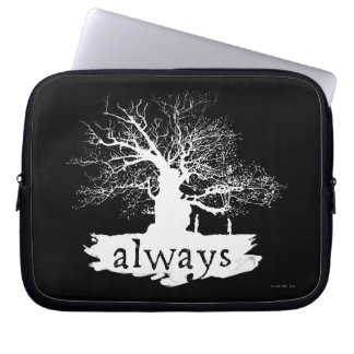 Silhouette de citation du charme | de Harry Potter Trousse Pour Ordinateur Portable
