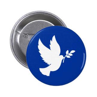 Silhouette de colombe de paix badge