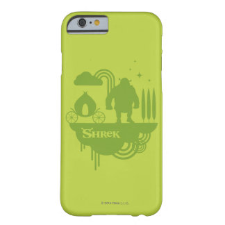 Silhouette de conte de fées de Shrek Coque iPhone 6 Barely There