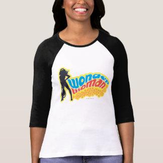 Silhouette de femme de merveille t-shirt