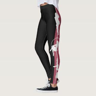 Silhouette de forme physique de Polonais legging :