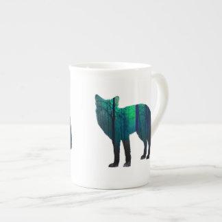 Silhouette de Fox - renard de forêt - art de Mug
