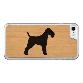 Silhouette de Fox Terrier de fil Coque Carved Pour iPhone 7
