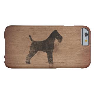 Silhouette de Fox Terrier de fil rustique Coque iPhone 6 Barely There
