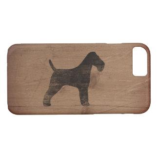 Silhouette de Fox Terrier de fil rustique Coque iPhone 7