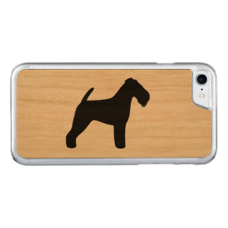 Silhouette de gallois Terrier Coque Carved Pour iPhone 7