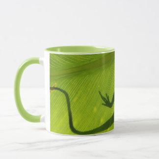 Silhouette de Gecko Tasses