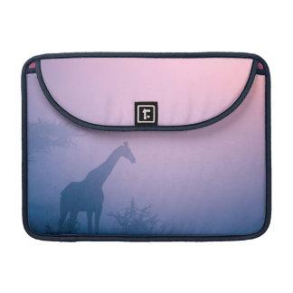 Silhouette de girafe (Giraffa Camelopardalis) Housses MacBook Pro