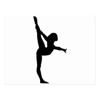 Silhouette de gymnaste carte postale
