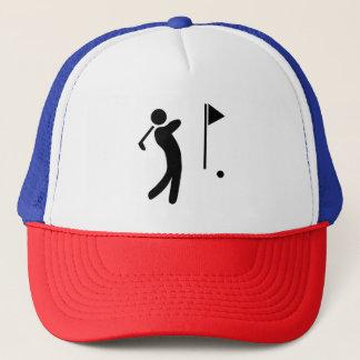Silhouette de joueur de golf casquette
