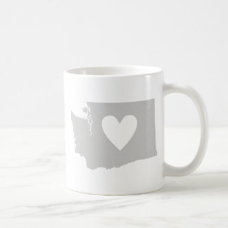 Silhouette de l'état de Washington De coeur Mug