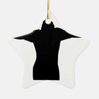 Silhouette de liberté ornement étoile en céramique