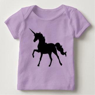Silhouette de licorne t-shirt pour bébé