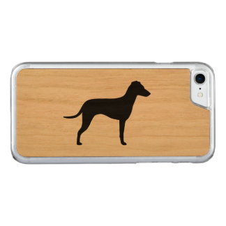 Silhouette de Manchester Terrier - oreilles Coque Carved Pour iPhone 7